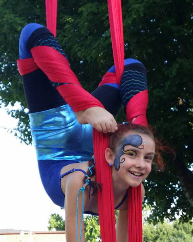 Aerial silks face painting